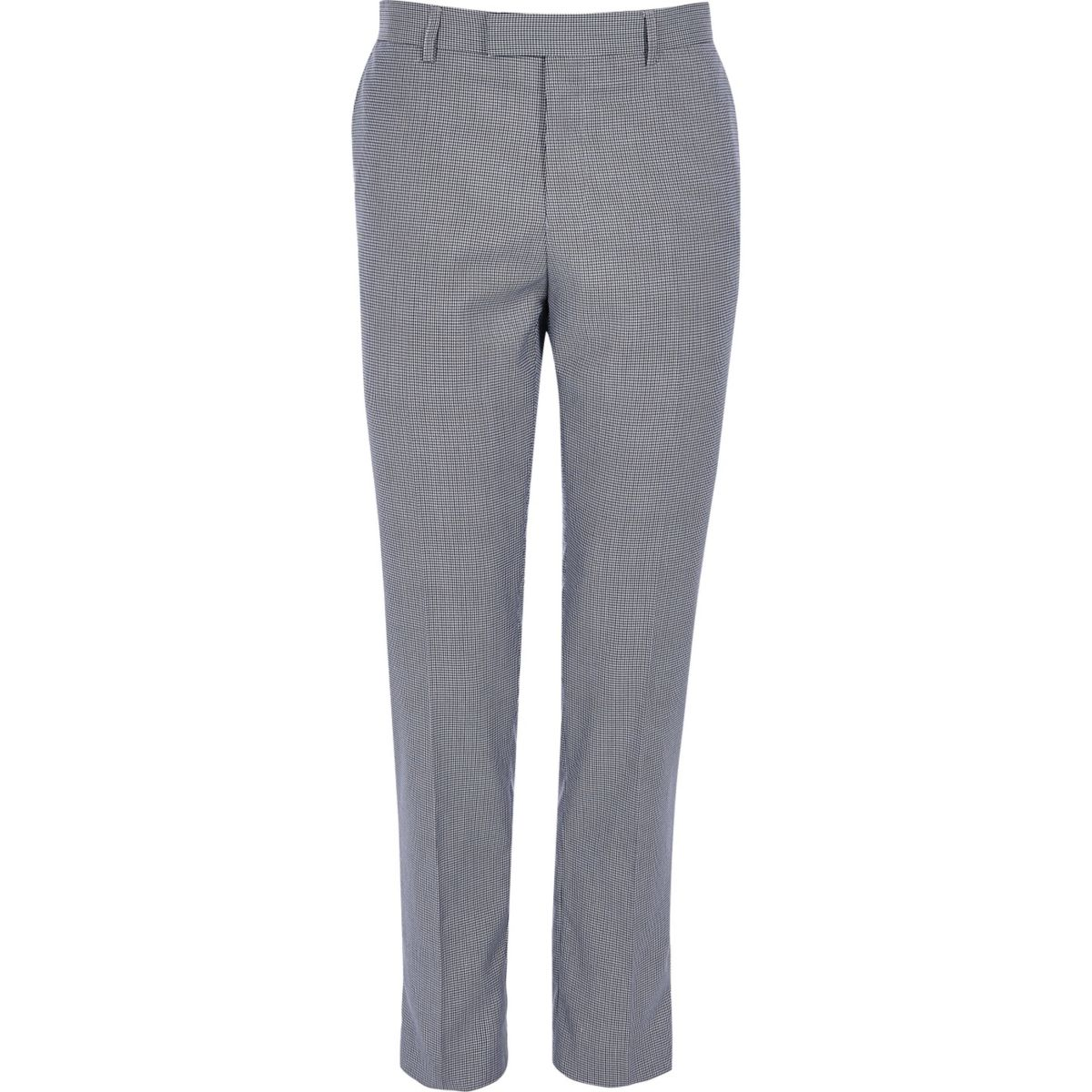 Navy pupstooth skinny fit suit trousers