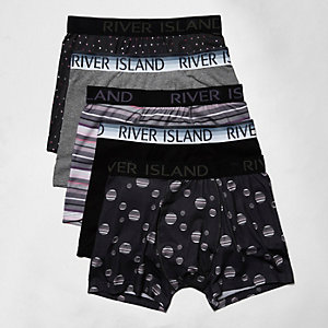 Black stripe and spot boxers pack