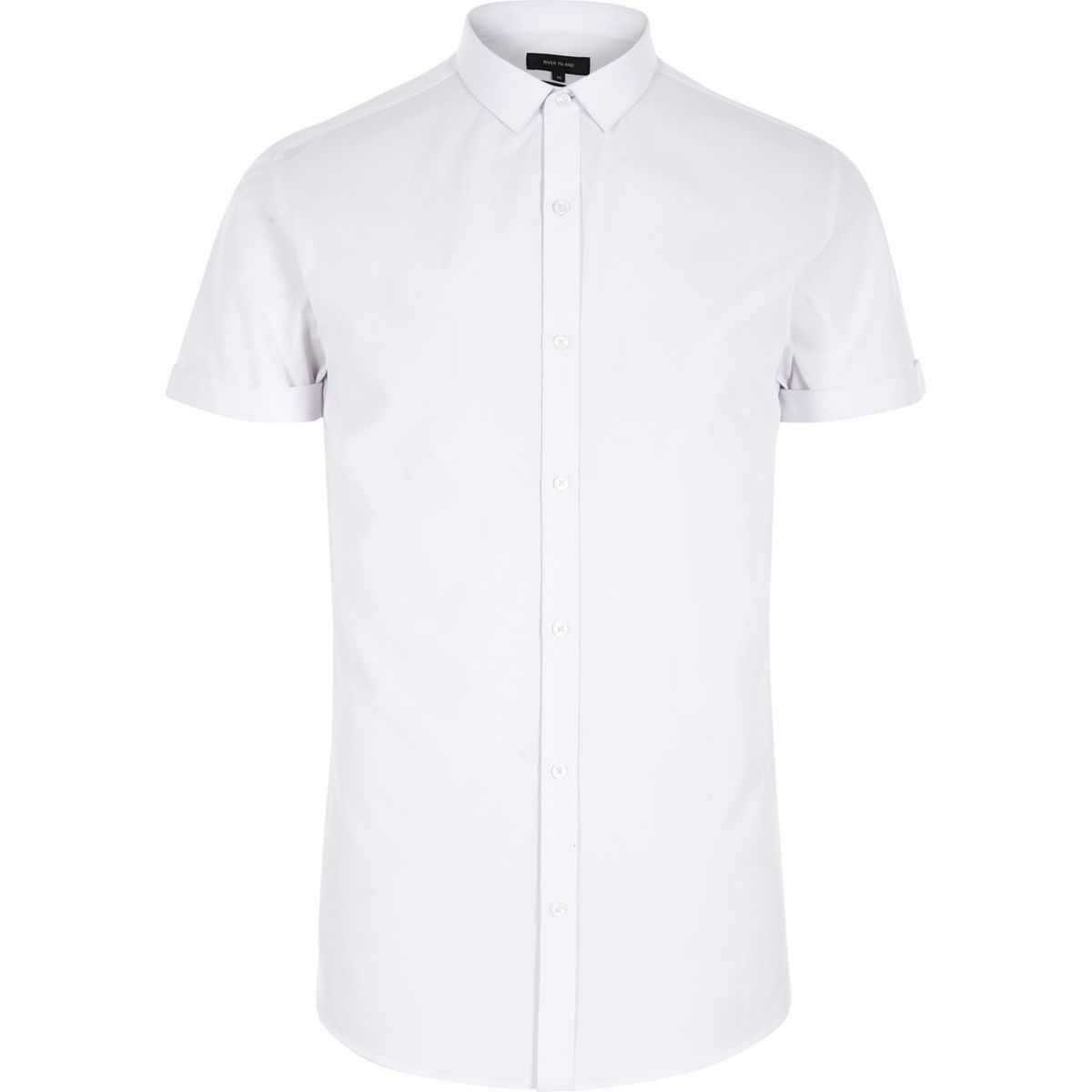 White Short Sleeve Slim Fit Shirt Shirts Sale Men