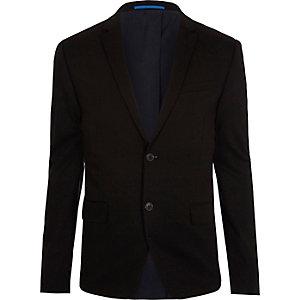 Zwart jersey skinny-fit colbert