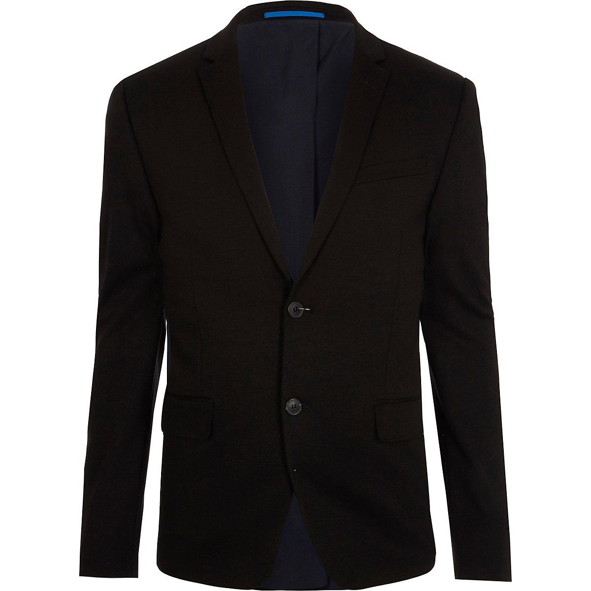 Schwarze Skinny Fit Anzugsjacke