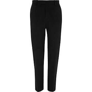 Black jersey skinny fit pants