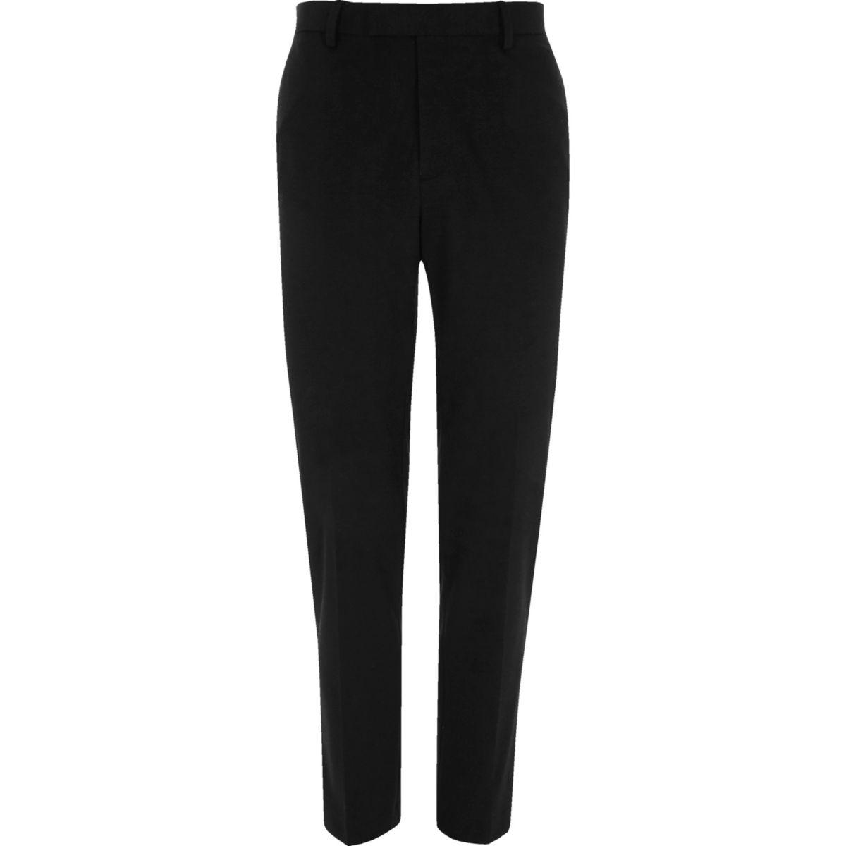 Black jersey skinny fit pants