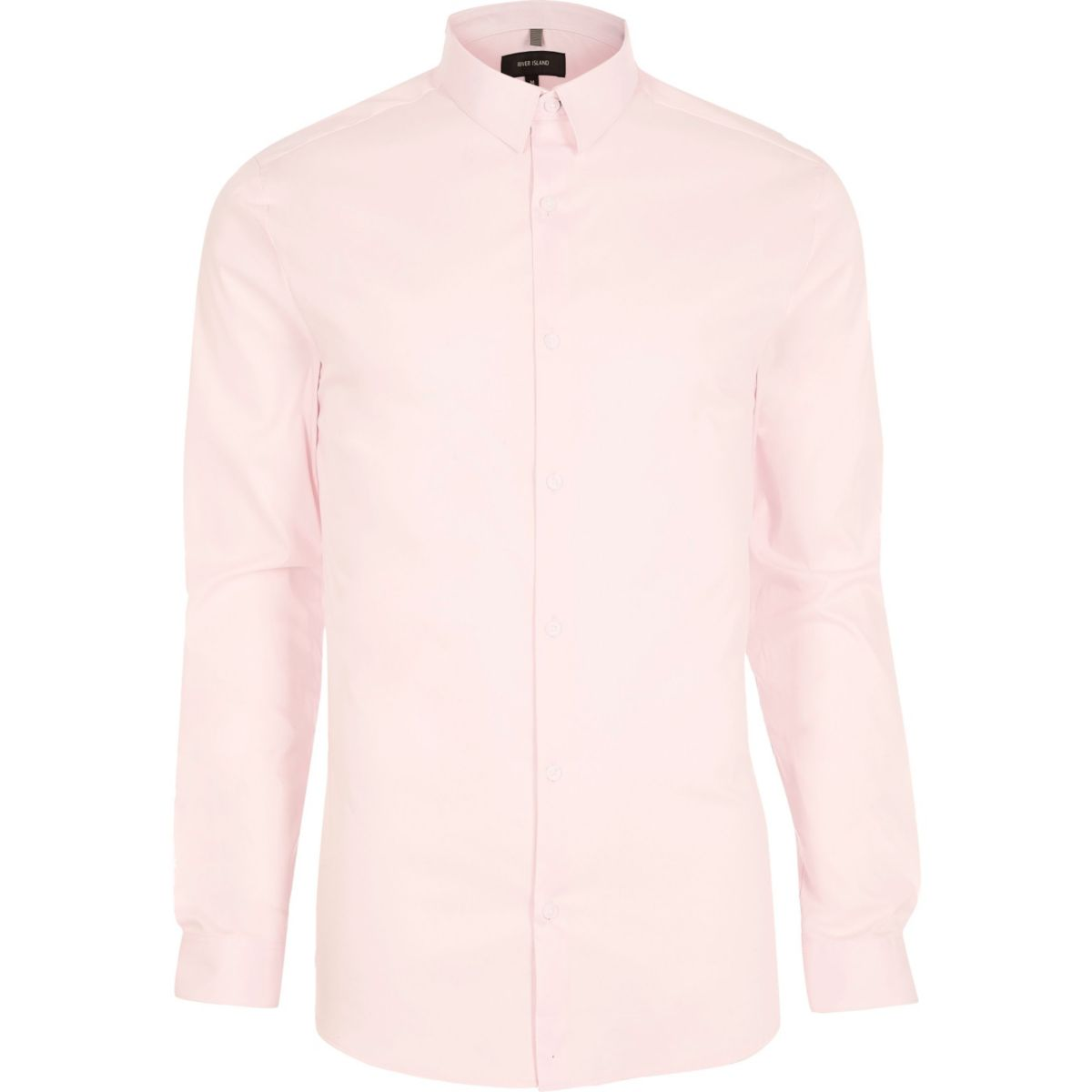 Pink smart muscle fit shirt