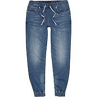 Ryan – Jean bleu délavage foncé style pantalon de jogging