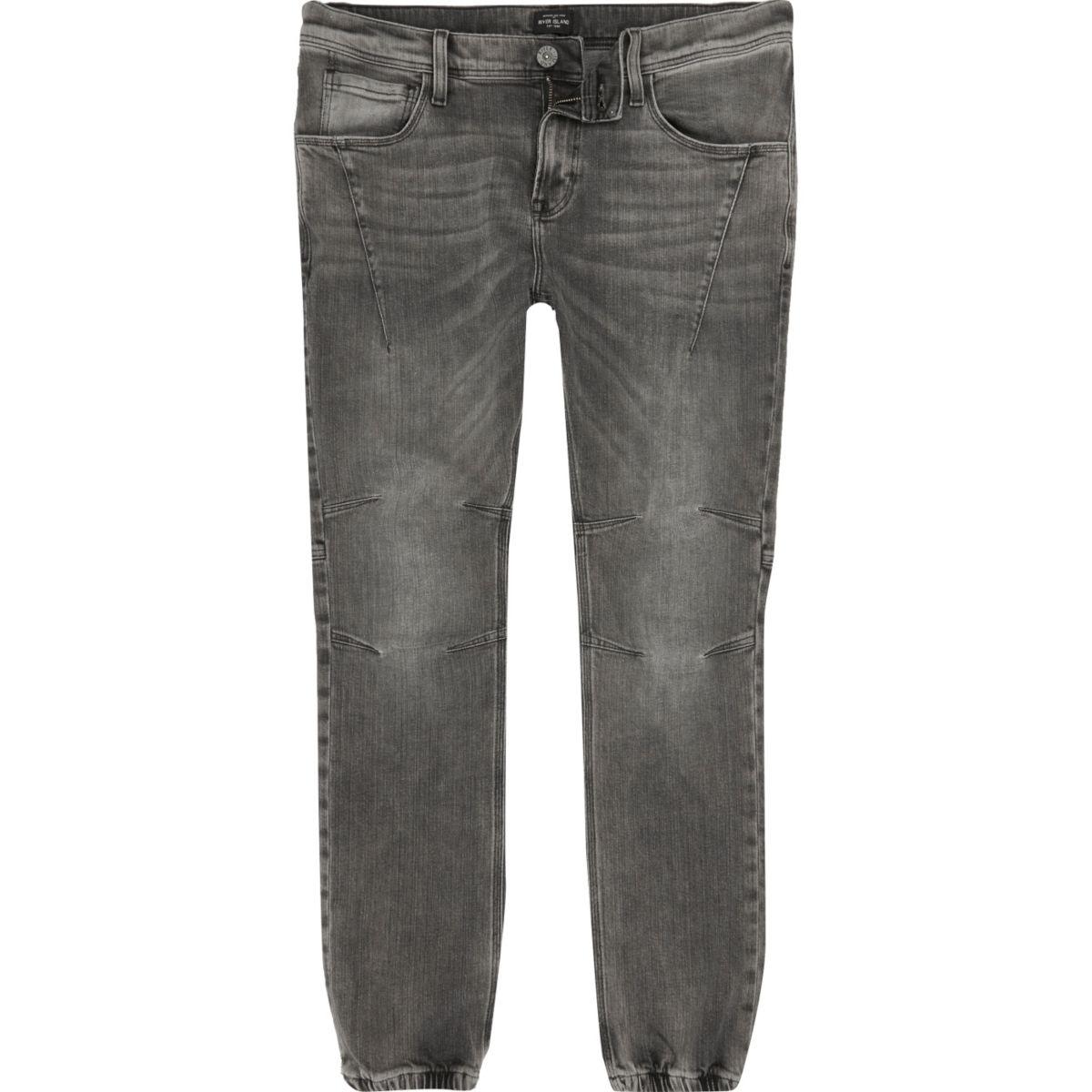 Grey wash Ryan jogger jeans