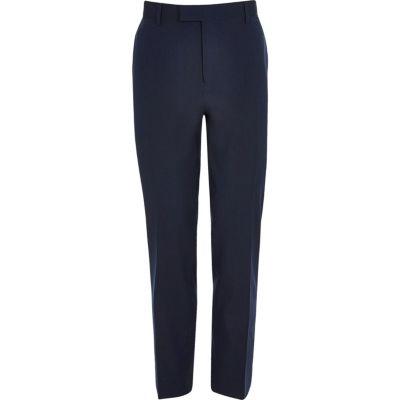 River Island Pantalon de costume coupe slim stretch bleu foncé