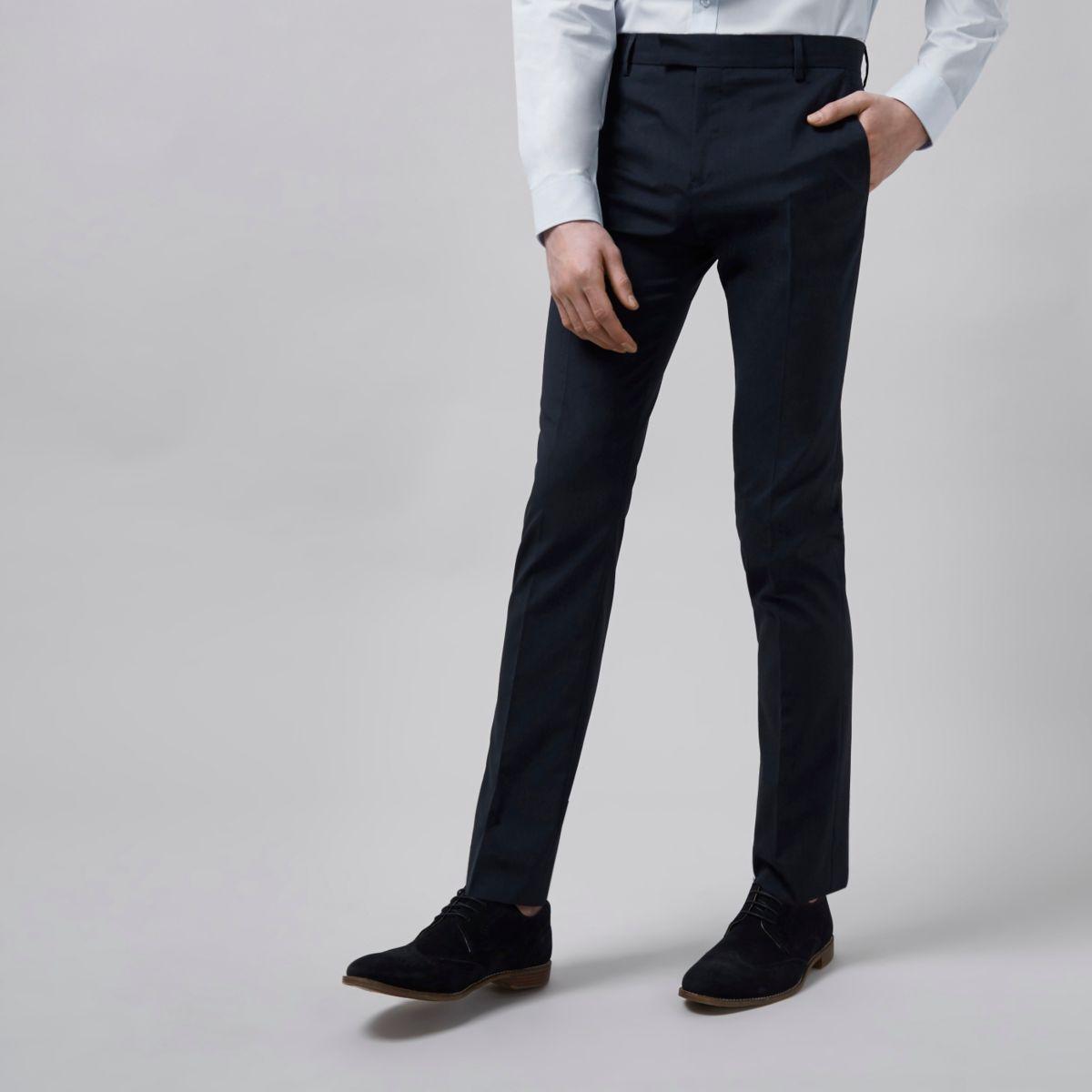 Pantalon de costume bleu foncé skinny