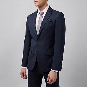 Marineblaue Tailored Fit Anzugjacke