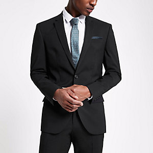 Zwart slim-fit colbert