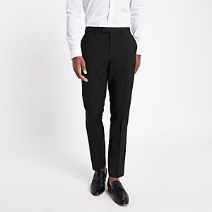 Black slim fit suit trouses
