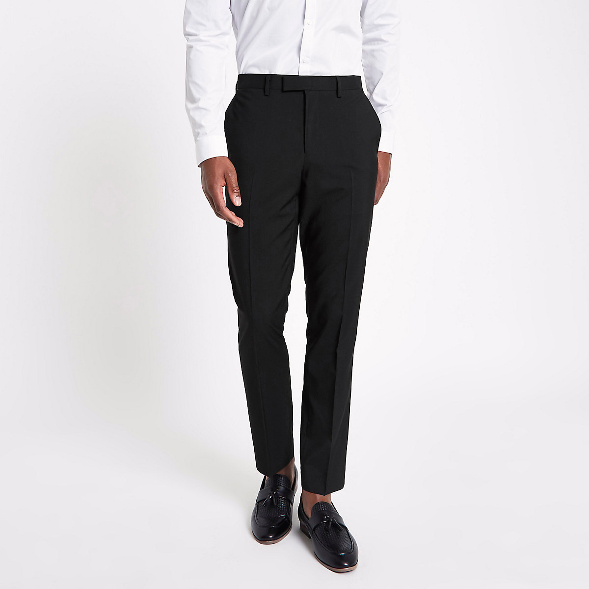 Pantalon de costume noir à coupe slim