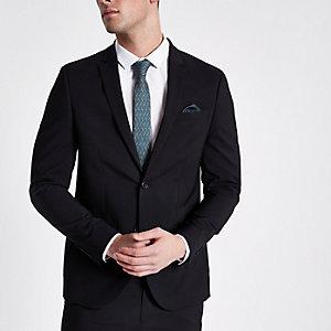 Veste de costume noire cintrée