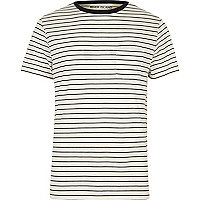 White stripe regular fit T-shirt