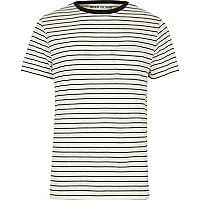 White stripe regular fit T-shirt