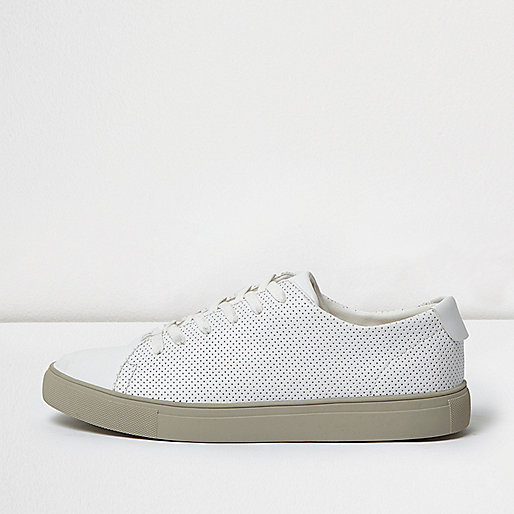 White perforated trainers