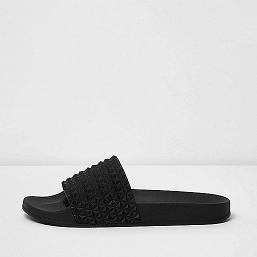 Black textured sliders