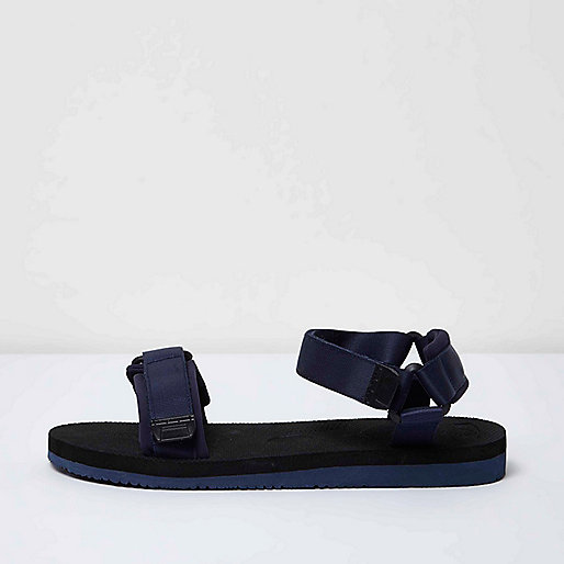Navy blue hike sandals