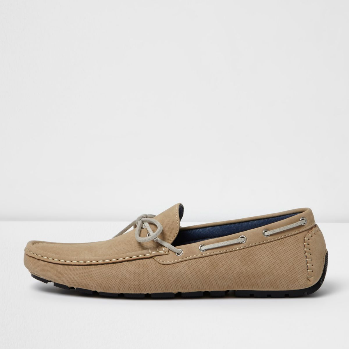 Stone grip sole lace up  loafers