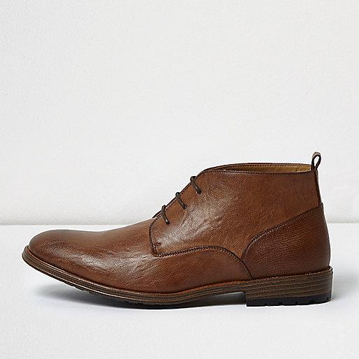 Brown chukka boots