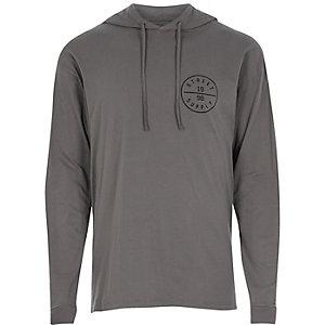 Grey logo light hoodie