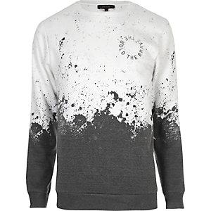 Wit sweatshirt met vervaagde print