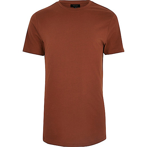 Rust orange longline T-shirt