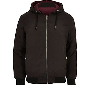 Black Jack & Jones hooded bomber jacket