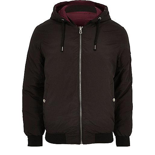 Black Jack & Jones hooded bomber jacket