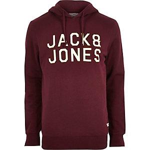 Dark red Jack & Jones hoodie
