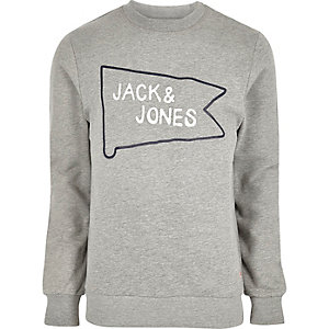 Grey Jack and Jones branded sweatshirt