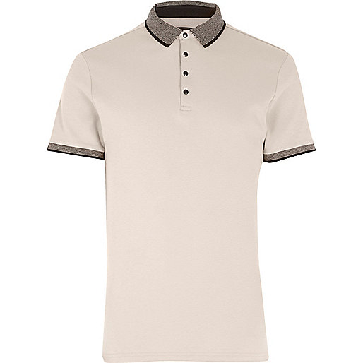 Stone short sleeve polo shirt