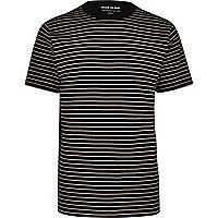 Navy blue stripe regular fit T-shirt