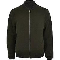 Dark green bomber jacket