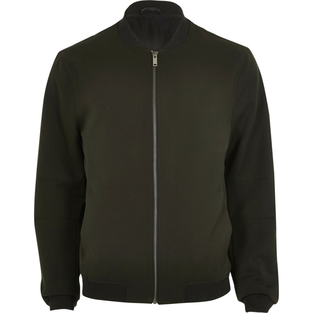 Dark green bomber jacket