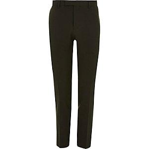 Donkergroene skinny-fit pantalon