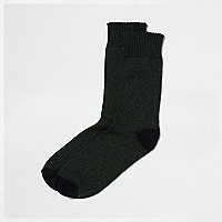 Dark green twist socks