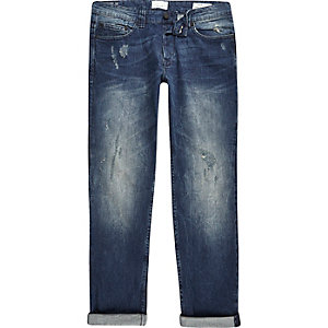 Only & Sons - Donkerblauwe skinny-fit jeans