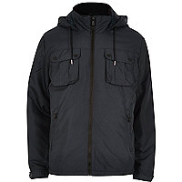 Navy Only & Sons light hooded jacket