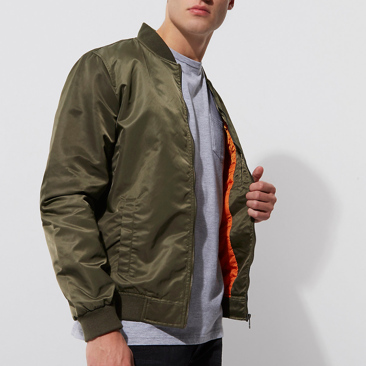 Dark green Only & Sons bomber jacket
