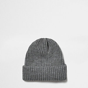 Grey fisherman beanie