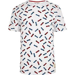 White HYMN lighter print T-shirt
