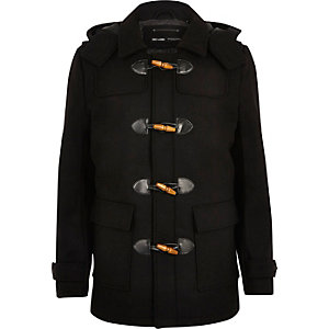 Black Only & Sons duffle coat