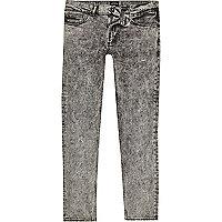 Sid – Skinny Jeans in schwarzer Acid-Waschung