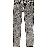 Black acid wash Sid skinny jeans