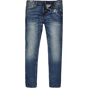 Sid mid blue wash skinny jeans
