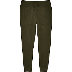 Dark green seam panel joggers