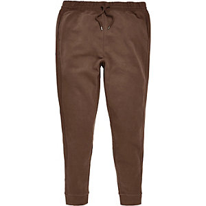 Light brown seam panel joggers