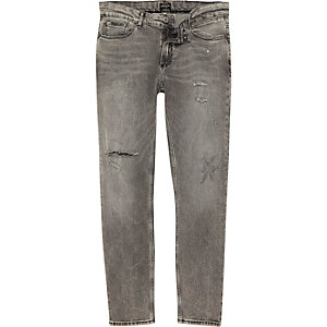 Light grey Sid skinny jeans