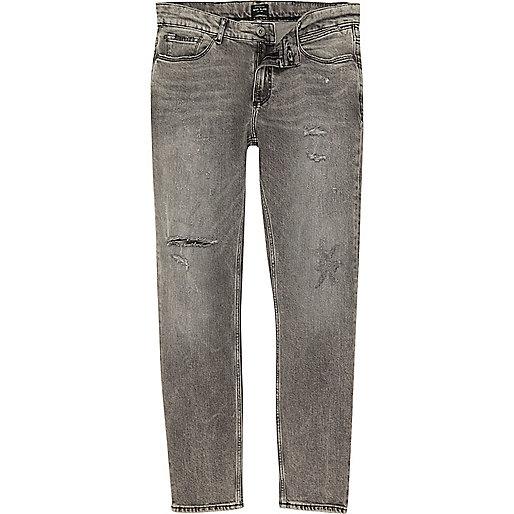 Light grey Sid skinny jeans